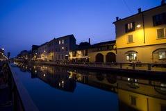Navigli en Milano Imagenes de archivo