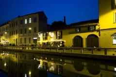 Navigli en Milano Fotos de archivo libres de regalías