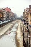 Navigli in Milaan Royalty-vrije Stock Fotografie