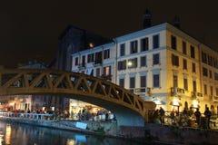 Navigli in Milan. A picture of Navigli in Milan stock photo
