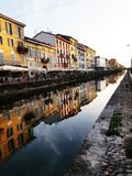 Navigli Milano royalty free stock photography