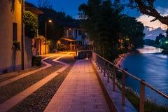 Naviglio. Cassinatta di lugagnoano with naviglio river Royalty Free Stock Photo
