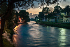 Naviglio. Cassinetta di Lugagnano with naviglio river Royalty Free Stock Photos