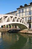 Naviglio en Milano, Italia imágenes de archivo libres de regalías