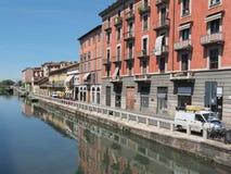 Naviglio gran, Milano Fotografie Stock Libere da Diritti