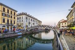 Naviglio Grande canal Royalty Free Stock Photos