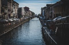 Naviglio Grande stock photo