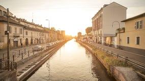 Naviglio grande da Milano immagini stock