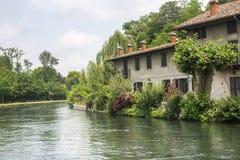 Naviglio Grande (Milaan, Italië) Royalty-vrije Stock Foto
