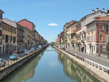 Naviglio Grande, Milan Stock Photo
