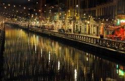 Naviglio grande, Lombardy. Naviglio grande in Milan during Christmas Royalty Free Stock Photos