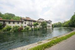 Naviglio Grande (Milan, Italy) Stock Images