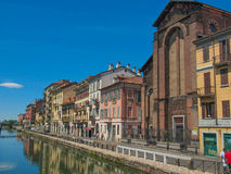 Naviglio Grande Milan Royalty Free Stock Photo