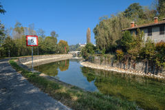 Naviglio Grande Turbigo Μιλάνο, Ιταλία στοκ εικόνες με δικαίωμα ελεύθερης χρήσης