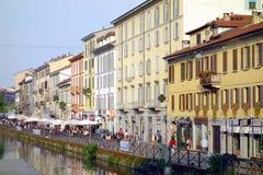 Naviglio Grande. A view of the Naviglio Grande in Milan, Italy Stock Image