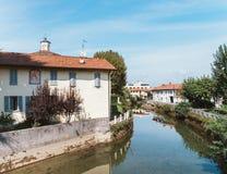 Naviglio Martesana in Lombardy, Italy Royalty Free Stock Photo
