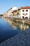 Naviglio in Milan, Italy Stock Photography