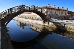 Naviglio Pavese, Италия, милан стоковые изображения