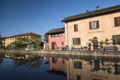 Naviglio Pavese da Pavia a Milan Italy Fotografia Stock