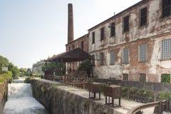 Naviglio Pavese (Lombardy, Italien) Arkivfoto