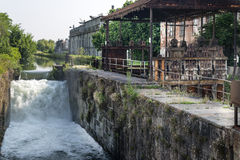 Naviglio Pavese (Lombardy, Italy) Royalty Free Stock Images
