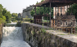 Naviglio Pavese (Lombardy, Italy) Royalty Free Stock Photography