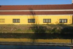Naviglio Pavese von Pavia zu Milan Italy Lizenzfreies Stockfoto