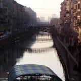Naviglio river Royalty Free Stock Image