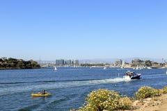 Naviguant chez Marina Del Rey, la Californie Images stock