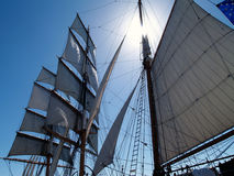 navigue ensoleillé Image libre de droits