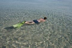 Naviguer au schnorchel Photo libre de droits