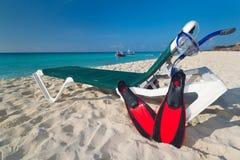 Naviguer au schnorchel à la mer des Caraïbes Images libres de droits