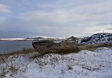 Navio abandonado Fotografia de Stock