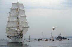 Navio alto mexicano durante a parada dos tallships fotografia de stock royalty free