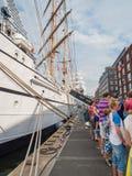 Navio alto português Sagres na vela 2015 Imagens de Stock