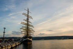 Navio alto, regata Varna imagem de stock