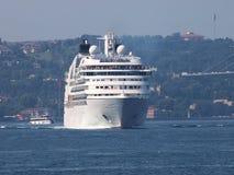 Navio branco Fotografia de Stock
