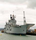 Navio britânico do porta-aviões fotografia de stock royalty free