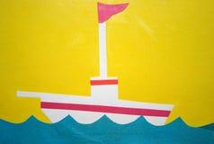 Navio com uma bandeira imagens de stock