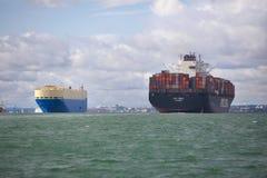 Navio da carga e de recipiente Foto de Stock Royalty Free