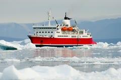 Navio da expedição - som de Scoresby - Gronelândia Imagens de Stock