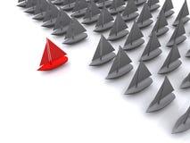 Navio da liderança. 3D Fotografia de Stock