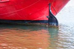 navio da quilha com um leme imagens de stock royalty free