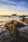 Navio das ruínas do mar Fotografia de Stock