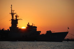 Navio de batalha Fotografia de Stock