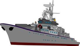 Navio de batalha ilustração do vetor