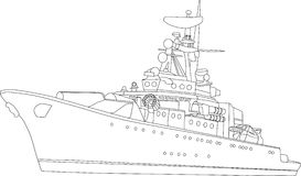 Navio de batalha Imagem de Stock