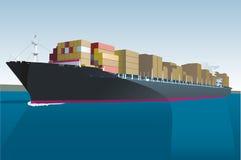 Navio de carga Imagem de Stock