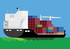 Navio de carga ilustração royalty free