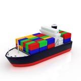 Navio de carga ilustração stock